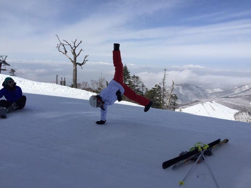 cartwheels in the air