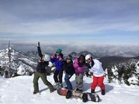 group shot at highest point at Shiga Kogen