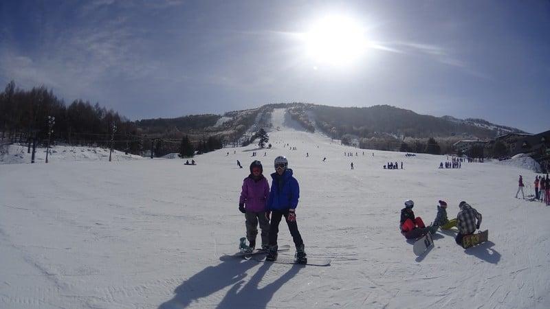 sunshine and snow