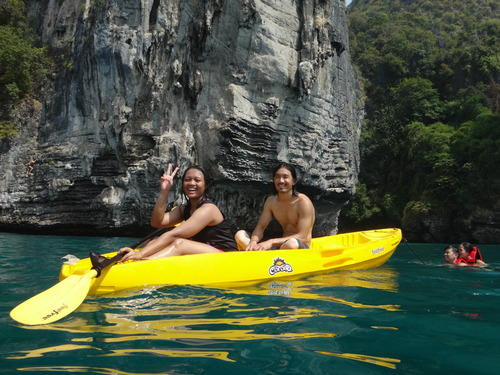 Kayaking in Krabi Thailand | Fishes, sunshine and salty water
