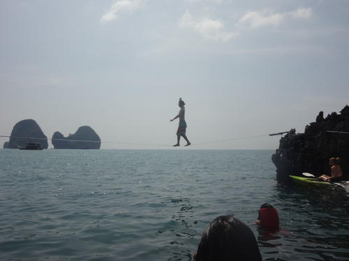 Slacklining at Krabi Railey Beach | Things to do in Krabi Thailand