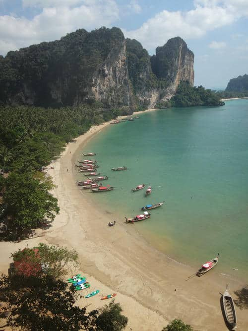 Tonsai Beach View from the Cave | Krabi Rock, Raw and Rustic