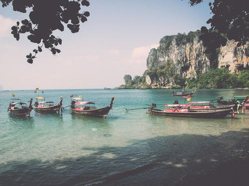 Traditional Boats of Railey Beach | Krabi Rock, Raw and Rustic