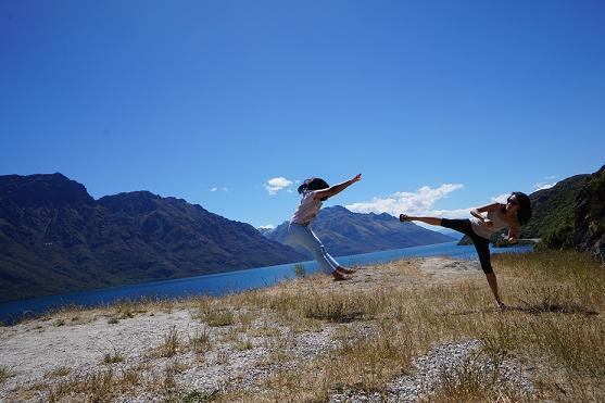 The view just makes every picture come out amazing. This beautiful picture was taken at the lookout point along Lake Wakatipu.