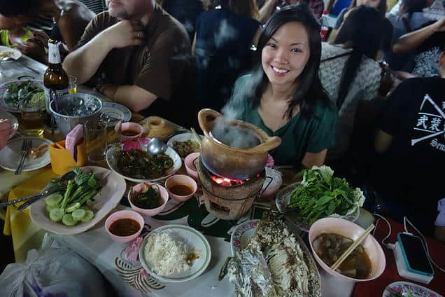 My partner-in-crime as we tried out the local street food. Steaming hot tom yam soup and grilled fish on the spot, bound to satisfy you after a long day of shopping.