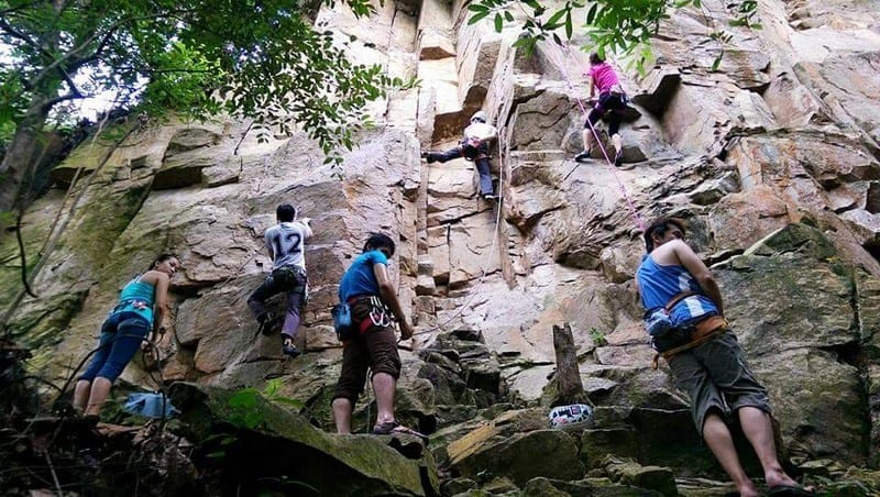 Outdoor Natural Rock Climbing at Dairyfarm Singapore