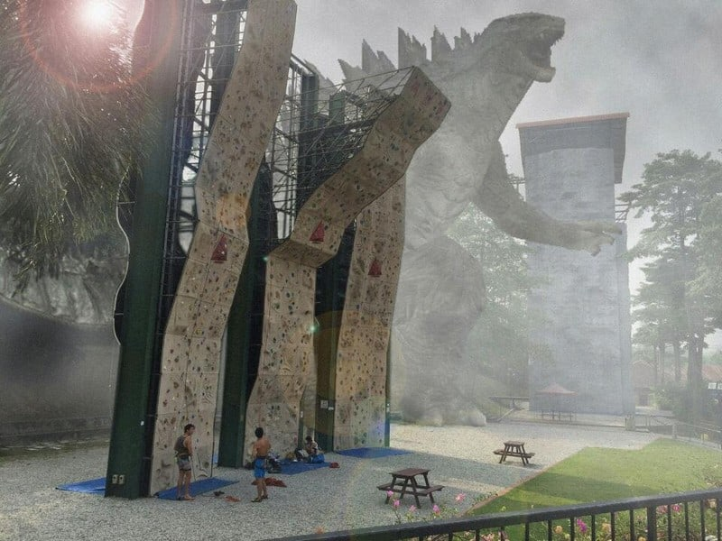 rock climbing wall at yishun safra for climbing enthusiasts