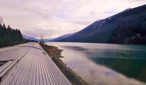 Beautiful Lake view on The Canadian VIA Rail
