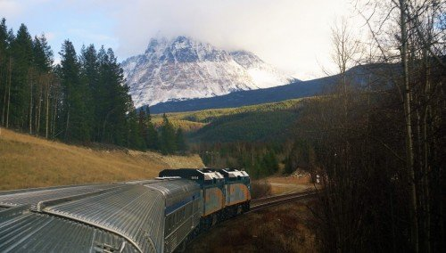 Entering the Rockies Zone on the Edmonton - Banff Route.Surviving 27 hours on Rail - Vancouver to Edmonton