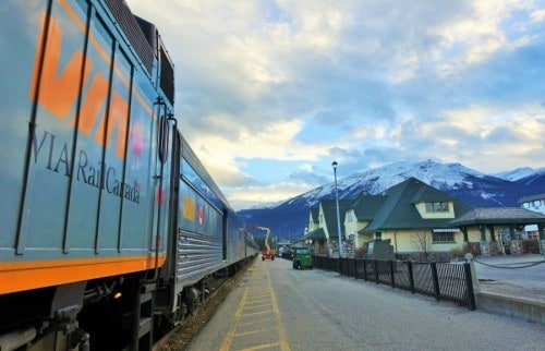 VIA Rail refueling at Jasper Station