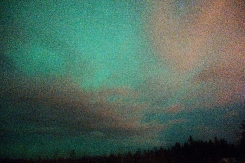gorgeous bluish green colours of the aurora