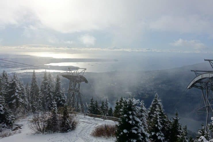 View from the lookout point at Grouse Mountain after your successful summit! | Trekking Trails