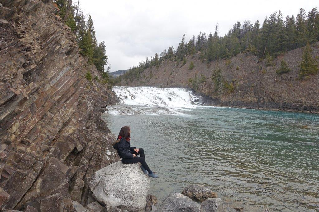View of Bow Falls at the start of the trek | Hiking trails in banff alberta