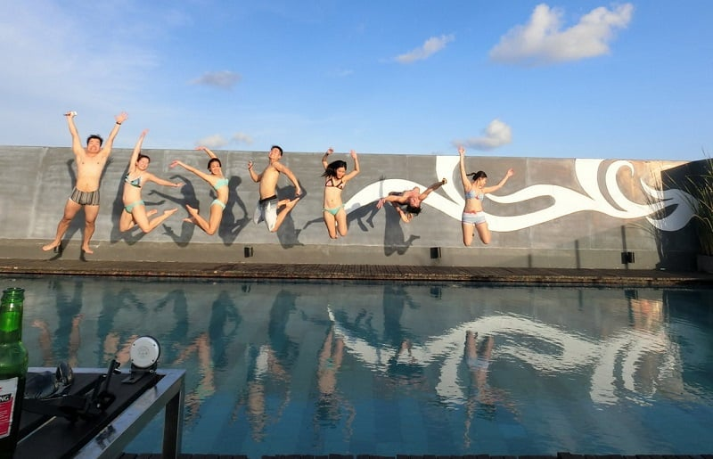 Outdoor adventures in Bali -Doing what travel bloggers do best - Jumpshots