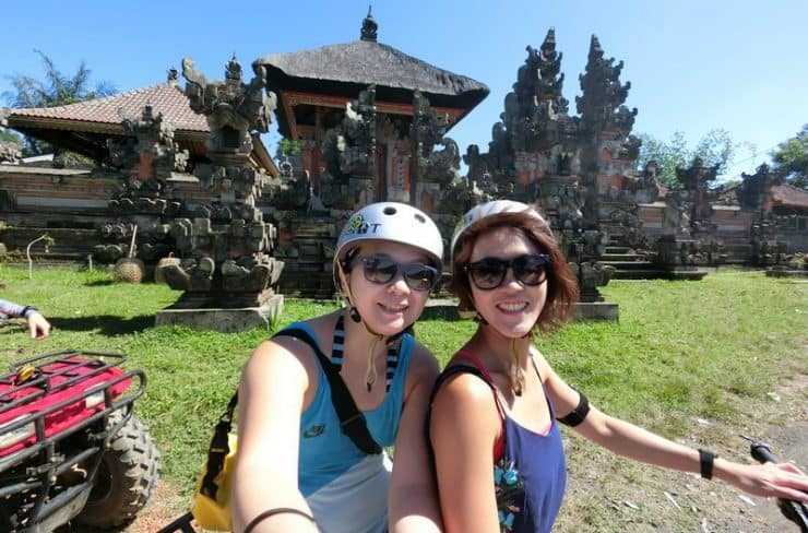 Bali Outdoor Adventure - quad biking - Went past some pretty Balinese traditional structures on our journey. Had to stop to take it all in