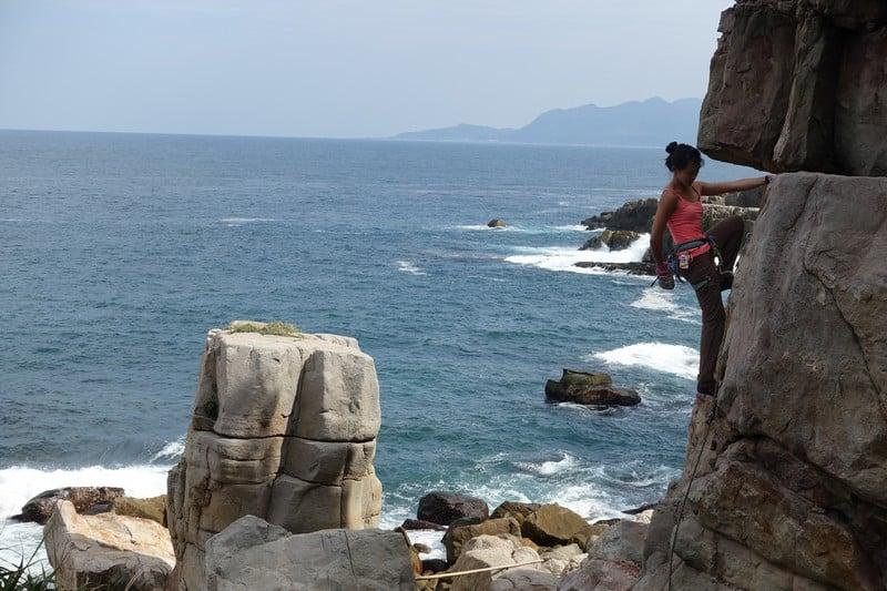Lydiascapes Rock climbing at long dong taiwan | Taiwan rock climbing and trad climbing