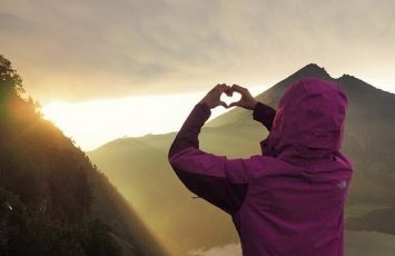 lots of love from the sunrise at mount rinjani