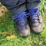 me and my dirty trekking boots at mount rinjani