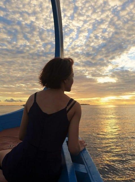 sunsets in maldives