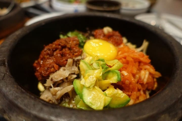 Local Korean Stone Pot Bimbimbap