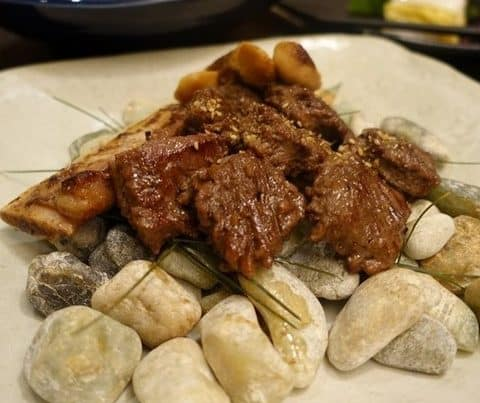 Kalbi Sweet Marinated Beef - best local korean food in Korea