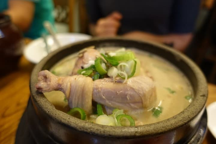 Nourishing Korean Ginseng Chicken Soup for a cold day - best local korean food in Korea