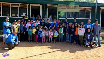 Group photo at one of the villages we stopped at
