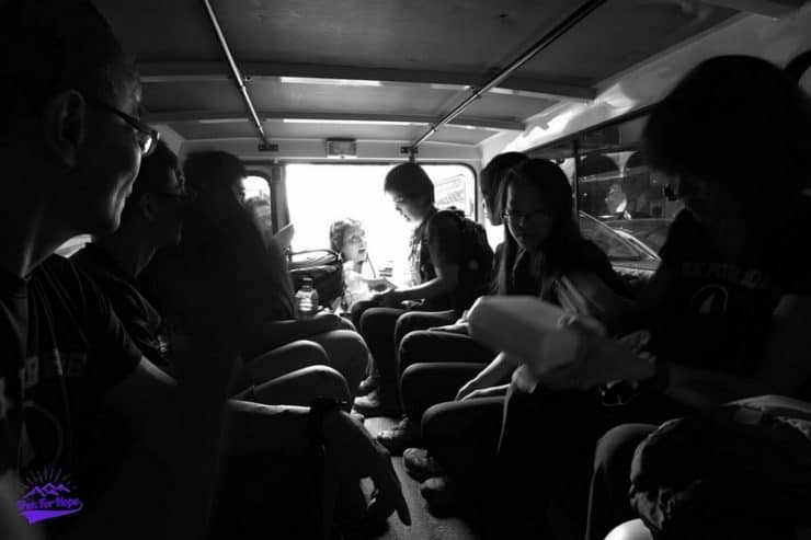 leaving the comfort of the van into the slums | Smoky mountain tours in Happy Land Tondo