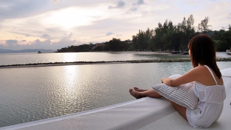 enjoying the sunset | Best island resort langkawi