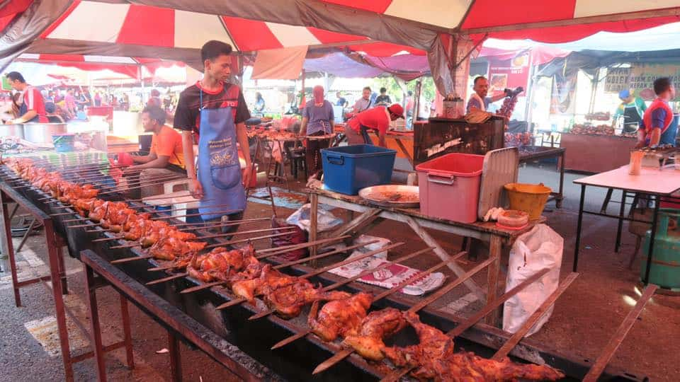 Street food stalls in langkawi all open early during fasting month. You can find food from roasted chicken to coconut to fried noodles to mutton soup. The list is endless