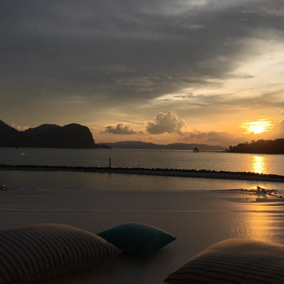 Beautiful sunset from Kayiputi, Really not to be missed activity in the best island resort langkawi St Regis Langkawi Resort