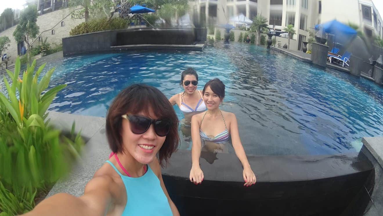 Selfie by the pool at st regis langkawi malaysia