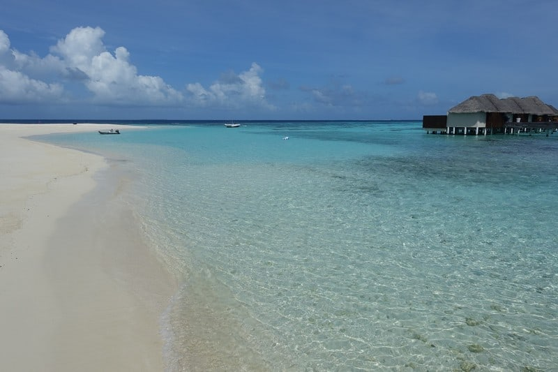 Take a dip into the ocean after a good morning yoga workout in Maledives