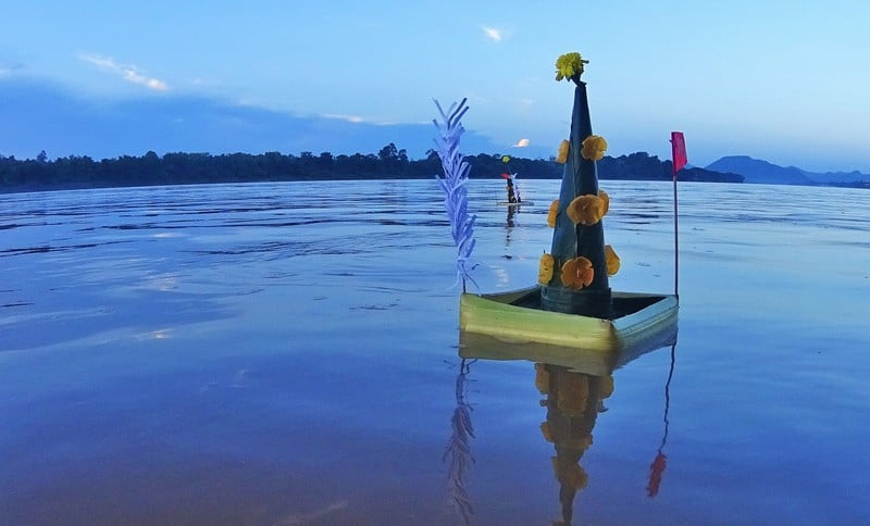 Letting go of our 'bad luck' into the Mekong River
