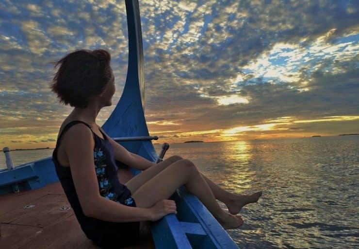 Stunning sunsets in Maldives
