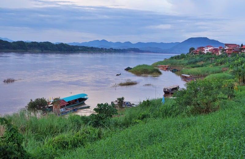 Stunning Mekong River seperating Thailand and Laos