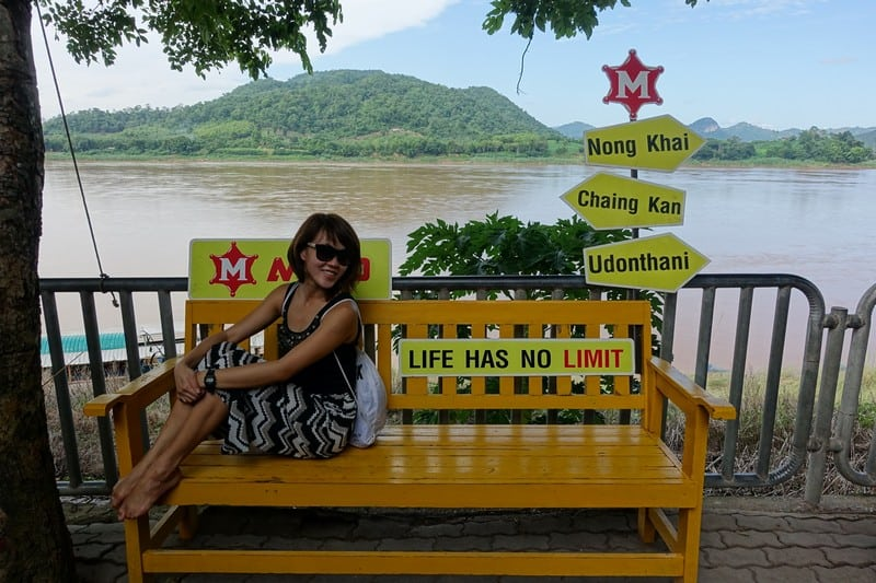 Life has no limit - Chiang Khan Thailand. Mekong River in the background and Laos across it!