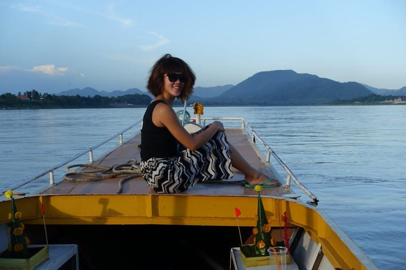 Wind in my air, smile on my face in Chiang Khan -Thailand Eco Sustainable Tourism