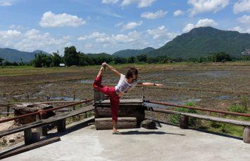 Beautiful Chiang Khan and its padi fields