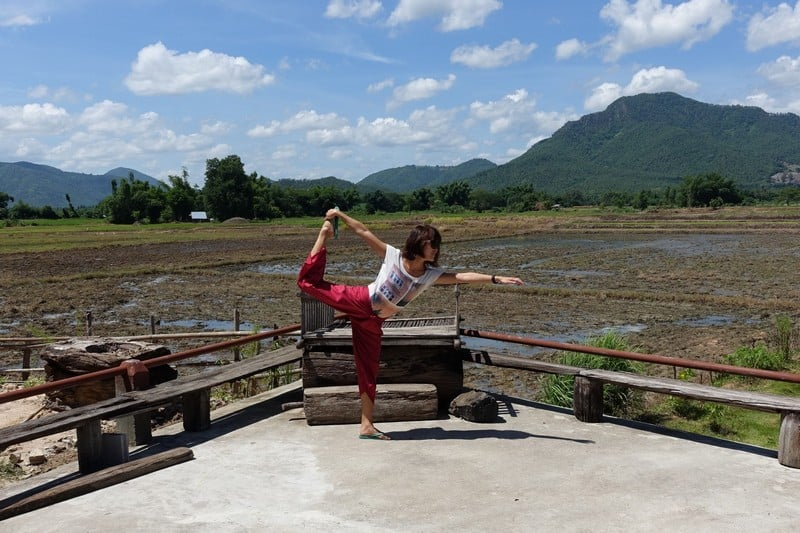 Beautiful Chiang Khan and its padi fields, shot at theBlack Thai Tribe Tai Dam