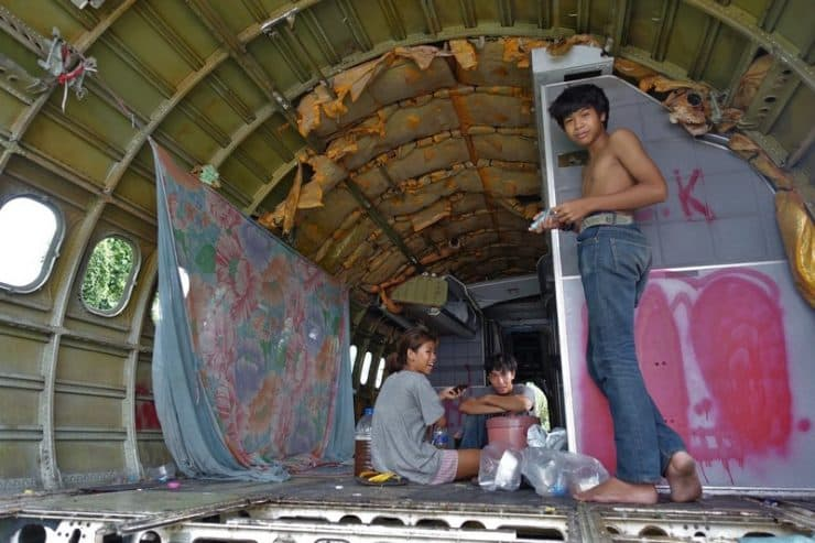 People staying in these aircraft | Airplane Boneyard - Things to do in bangkok