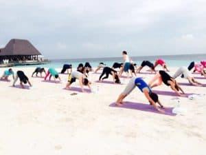 Yoga on our beautiful beaches | Yoga retreat in Maldives