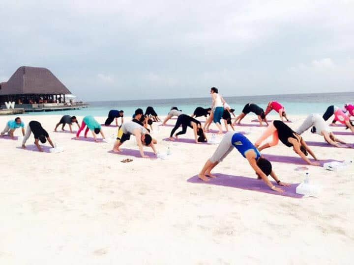 Yoga on our beautiful beaches | Yoga retreat in Maldives