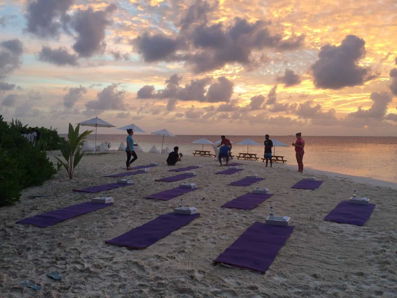 Yoga with a view like that, whats not to love?