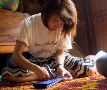 Decorative paper cutting at Chiang Khan