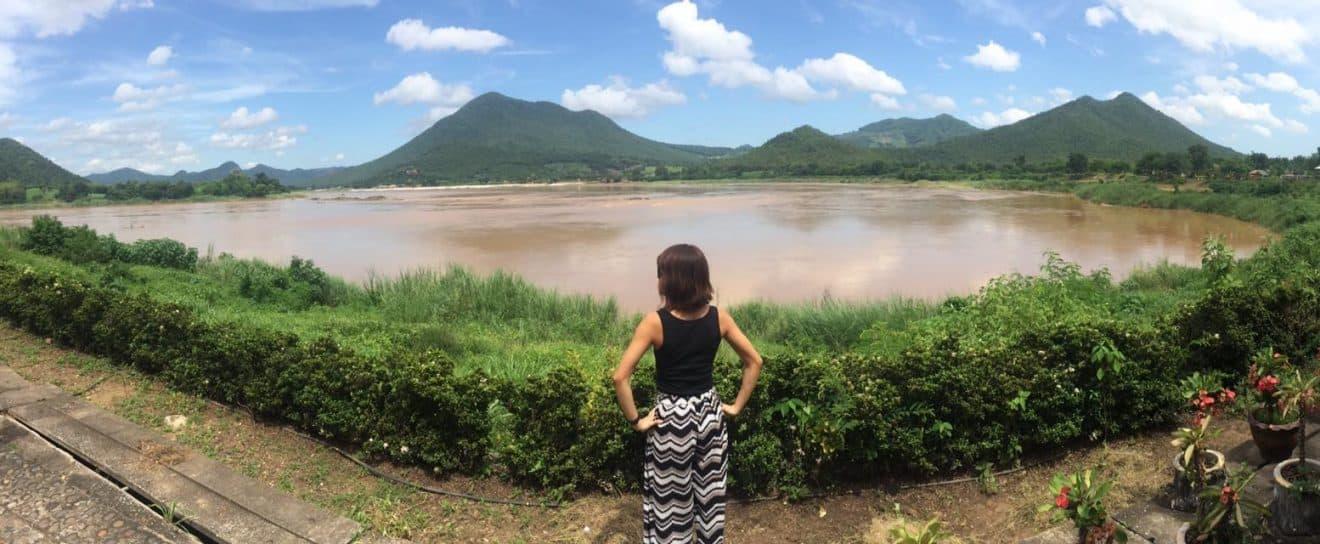 Mekong River separating us from Laos