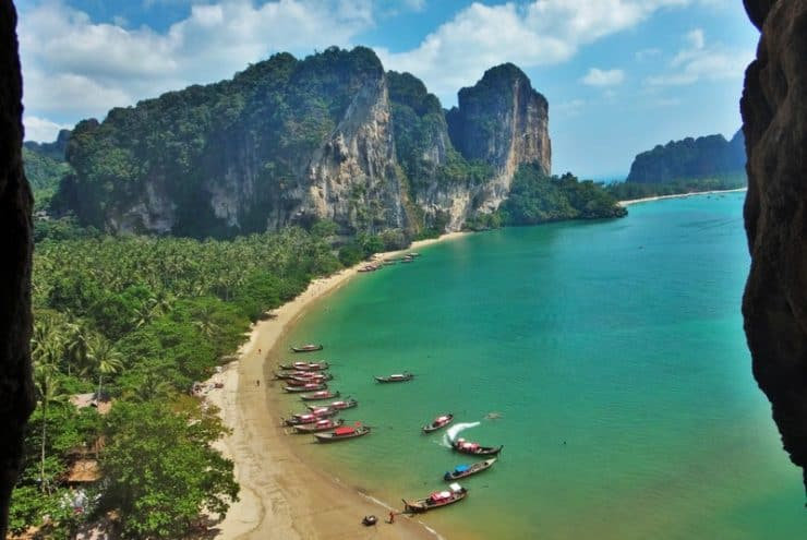 Stunning beaches and rock formations at Railey Beach in Thailand. Rock Climber's dream paradise | Best Climbing Destinations
