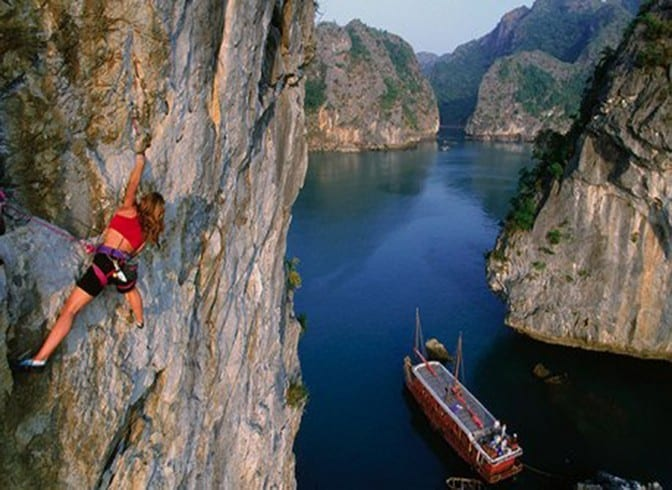 Climbing in Cat Ba in Vietnam | Rock climbing in Asia