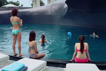 Pool parties at W Bangkok stunning pool