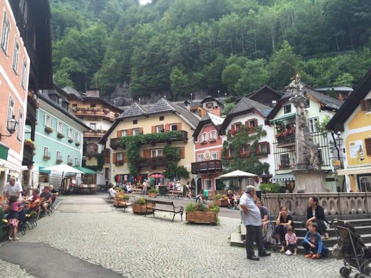 And here we are, the town square, the heart of Hallstatt! pretty quaint town